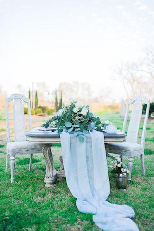 Romantic dusty blue wedding tablescape | Elisheva Golani Photography and Belle Soul Weddings |  see more on: http://burnettsboards.com/2015/05/romantic-dusty-blue-wedding/:
