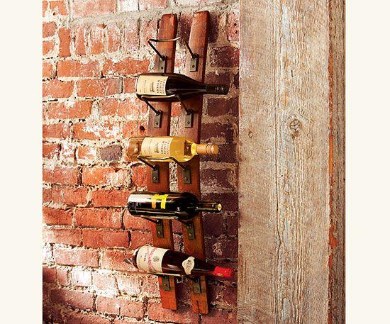 Stave wine rack