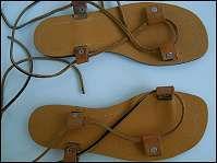 DAMEN SOMMER SCHUHE SANDALEN (neu) Lederbänder zum Schnüren Größe 39, günstig kaufen und gratis inserieren auf willhaben.at!