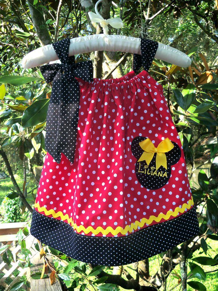 Minnie Mouse Pillow Case Dress (personalized) & 169 best pillow case dresses images on Pinterest   Pillow case ... pillowsntoast.com