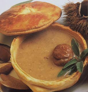 LE GUSTOSE RICETTE  DI NONNA MARIA: Zuppa di castagne e porcini