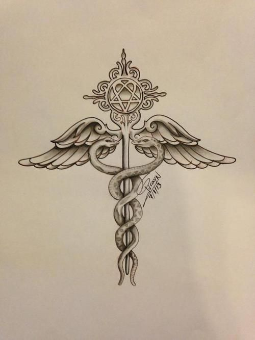Download Free Tattoos on Pinterest | Fleur De Lis Tattoo Foot Tattoos and Caduceus ... to use and take to your artist.