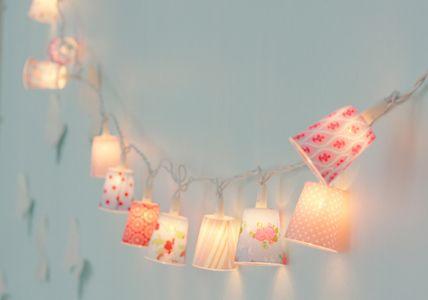 ghirlande di luci con i bicchieri di carta! Fairy Lights
