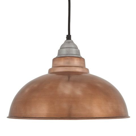 Old Factory Vintage Pendant Light - Copper - 12 inch