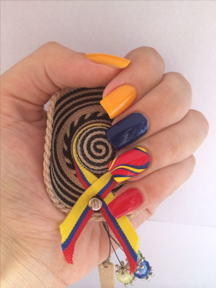 Uñas Colombia - nails - fifa world cup -