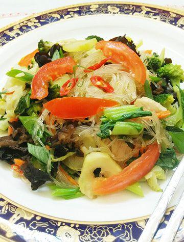 Vegetables Vermicelli Chicken Stirfried - my homecooking