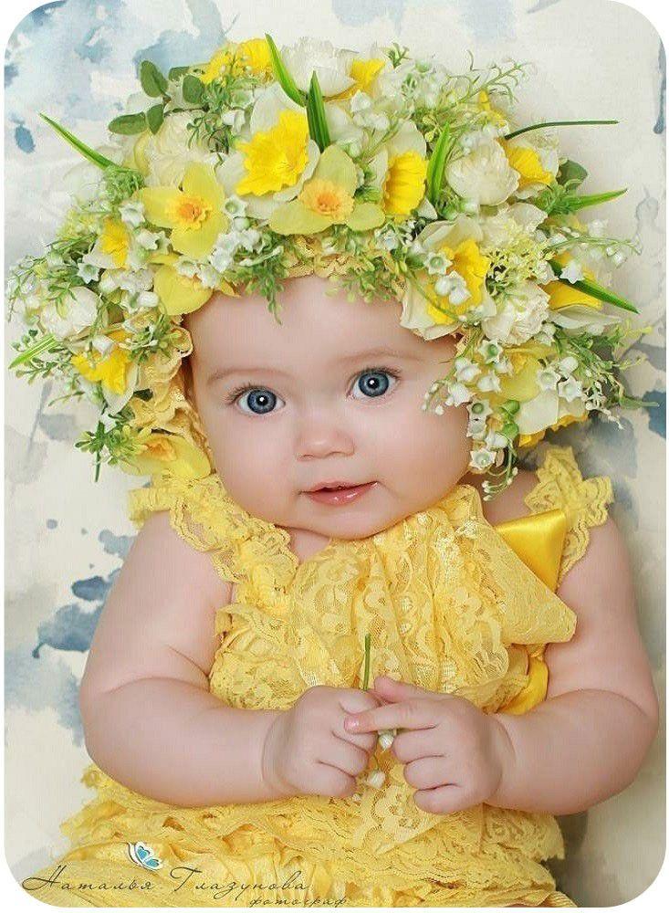 Открытки лялька с цветочком