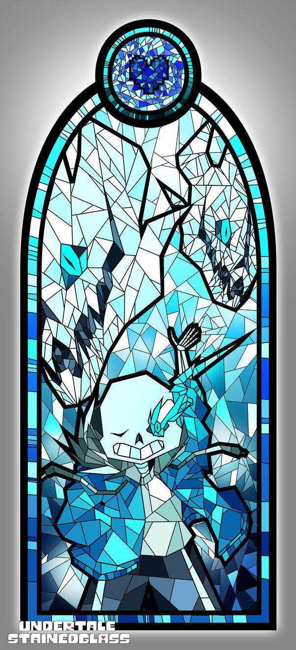 Sans Undertale Stained Glass By Aelorz Undertale