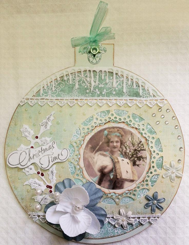 Les 25 meilleures id es concernant cartes de v ux vintage sur pinterest cartes r tro bluebird - Boule de noel vintage ...