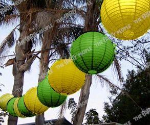 green and yellow lanterns - Australia day celebration