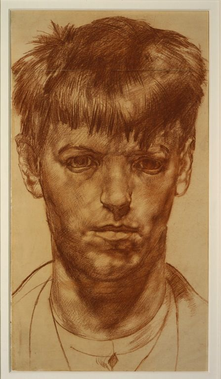 great drawing relevant to assignment 1 Stanley Spencer, Self Portrait, c. 1912