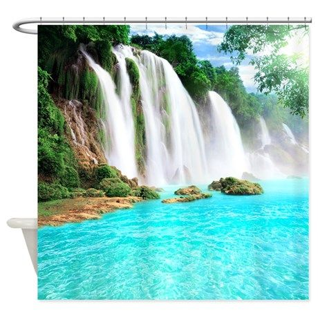 peaceful ideas waterfall showers. Tropical Waterfall Shower Curtain on CafePress com 82 best curtains images Pinterest  Bathroom ideas