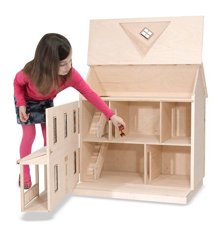 The House That Jack Built: Little Bit - Wooden Doll House
