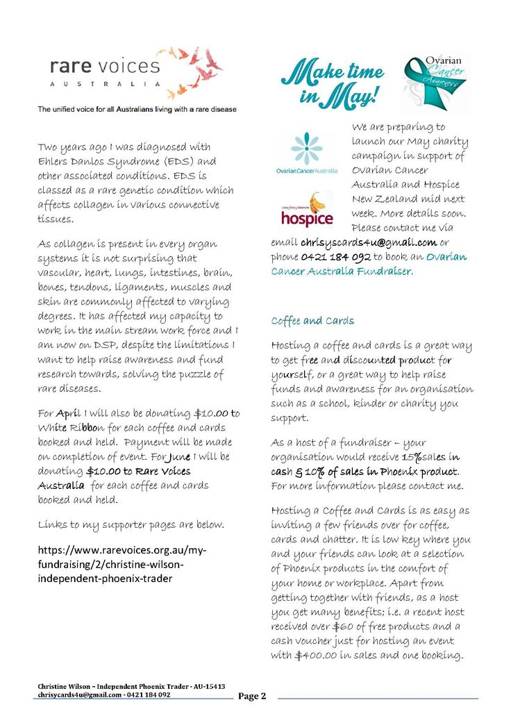 Page 2 of  my Autumn newsletter with information about fundraising for Rare Voices Australia, White Ribbon and Ovarian Cancer Australia. Of course I can also fund raise for your organisation. Information on page 2. PM or email me at chrisyscards4U@gmail.com