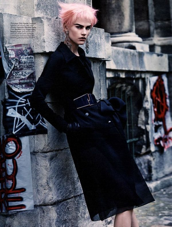Vogue Taiwan 'Punk Me' beauty editorial was shot by photographer Yossi Michaeli.