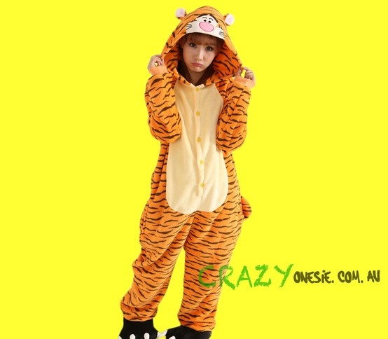 Tigger Onesie. 25% off EVERYTHING in store. Free Express Delivery Australia-wide. Visit www.crazyonesie.com.au for more details. Visit our Facebook page https://www.facebook.com/crazyonesie for exclusive competitions and discounts