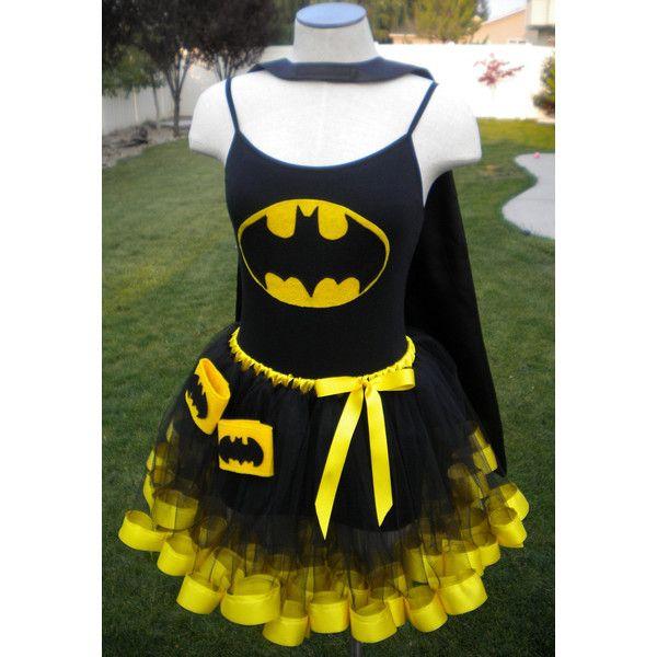 Runners Batman Super Hero DC Comics Costume Cape Mask Cuffs Tutu (£65) ❤ liked on Polyvore featuring costumes, dresses, batman, superheros, plus size superhero costumes, long camisole, long plus size cami, long cami and plus size camisoles