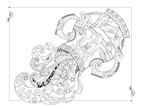 Aquarius Coloring Page | Coloring pages, Coloring books ...