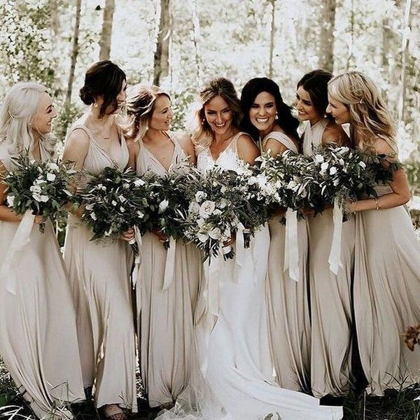 elegant neutral bridesmaid dress ideas