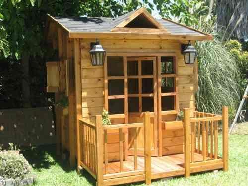 Casitas de madera para exteriores todo madera pinterest - Casitas para ninas ...