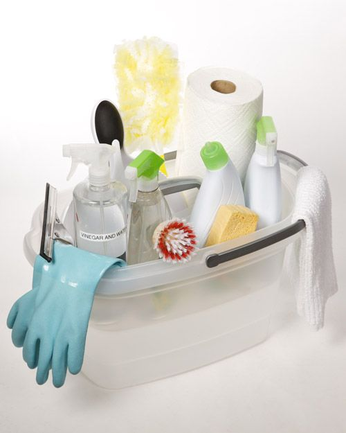 Spring Cleaning - Ideas and Inspiration for Organizing and Storing Cleaning Supplies & Products - bystephanielynn