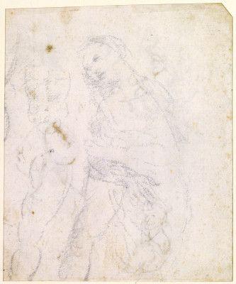 leonardo da vinci florentine 1452 1519 study of a madonna verso probably - Leonardo Da Vinci Lebenslauf