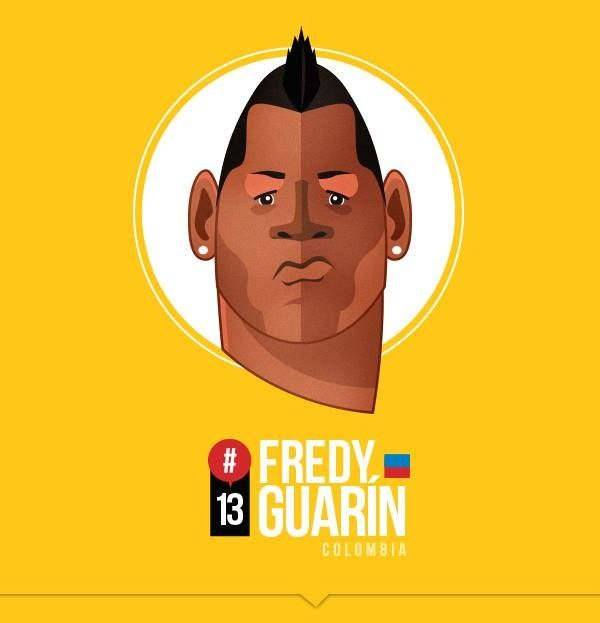 Jugadores de la selección Colombia!