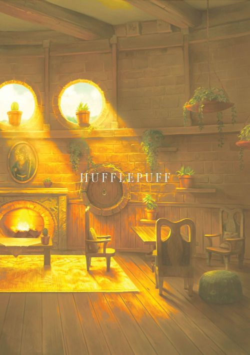 The hufflepuff common room is where I want to sit, read, and sip my tea in the morning.