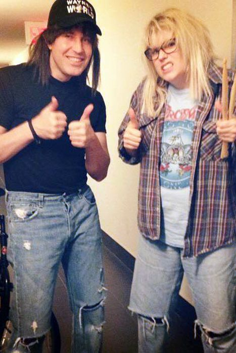Why not dress as the the most excellent BFFs in honor of Wayne's World's 25th anniversary? There's a good chance you already have most of the costume elements — you might even have respective long brown and long blonde hair — so it's an especially easy costume to pull together last-minute. What you'll need: Wayne's World hat ($14, amazon.com), Aerosmith t-shirt ($20, amazon.com)