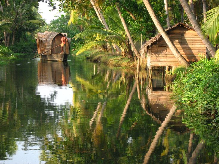 Kerala is a popular destination for its backwaters, beaches, Ayurvedic tourism and tropical greenery.