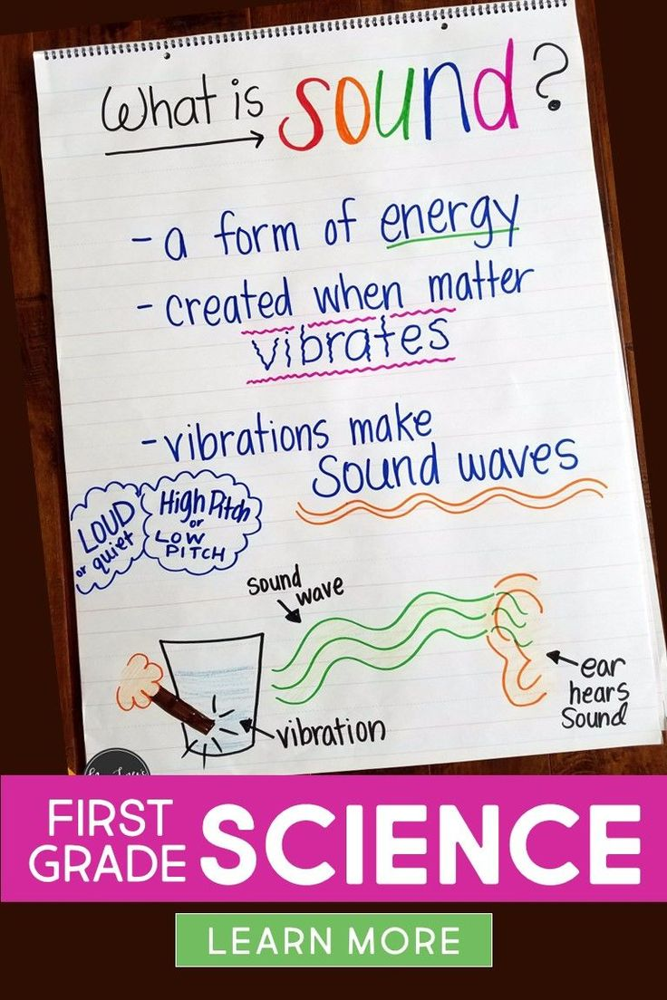 Light and Sound unit for First Grade. Little Science