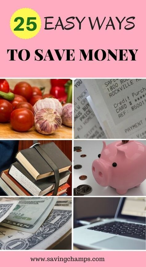 Here are 25 easy ways to save money and improve your budget. Saving money may not be as hard as you think. Give those a try.   money saving tips, frugal living ideas, budgeting, how to save money.