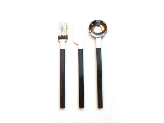 CONCORDE Brown cutlery set . AIR FRANCE . by FeelingOfDejaVu