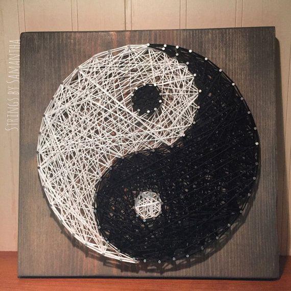 Ying & Yang String Art Sign by StringsbySamantha on Etsy