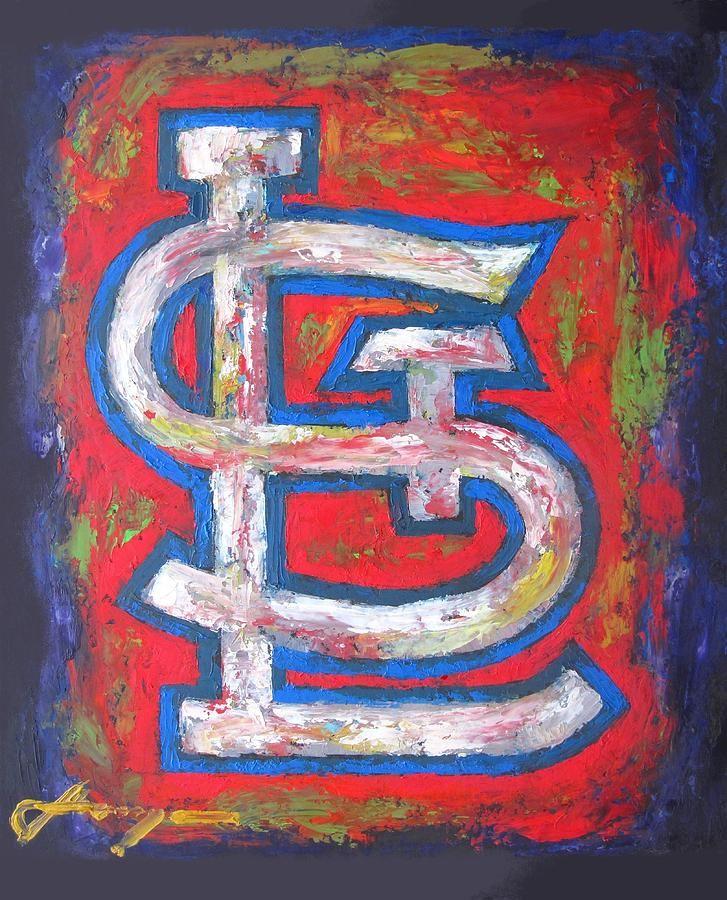 canvas art st. louis cardinals