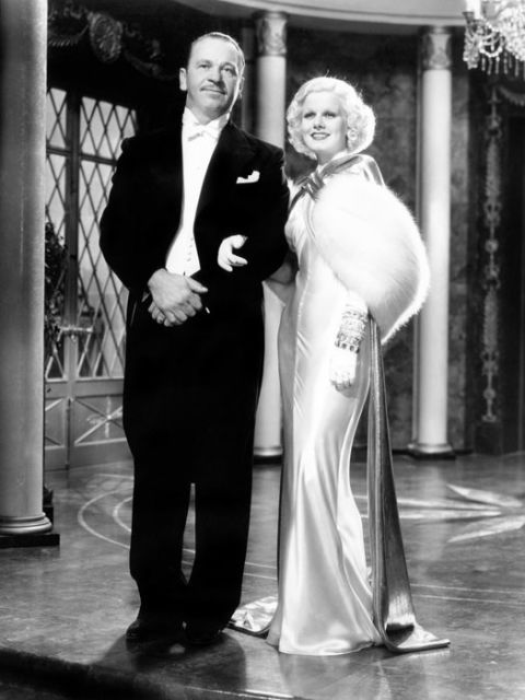 Dinner at Eight, 1933 Back when they really dressed for dinner (at least in the movies) This looks like a perfect winter wedding look. Just add a face cage veil and bouquet and you're there
