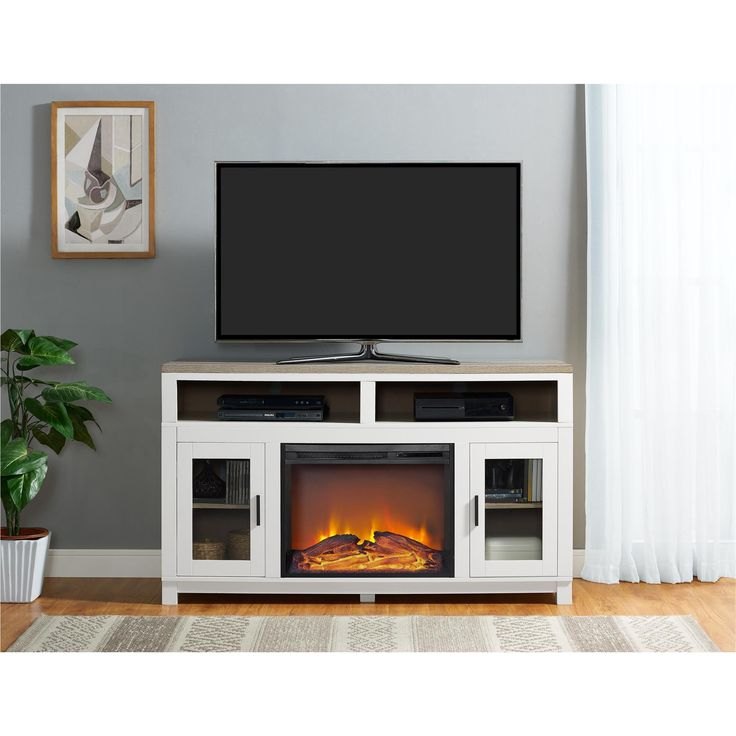Electric Fireplace 60 inch electric fireplace tv stand : Best 25+ Electric fireplace tv stand ideas on Pinterest ...