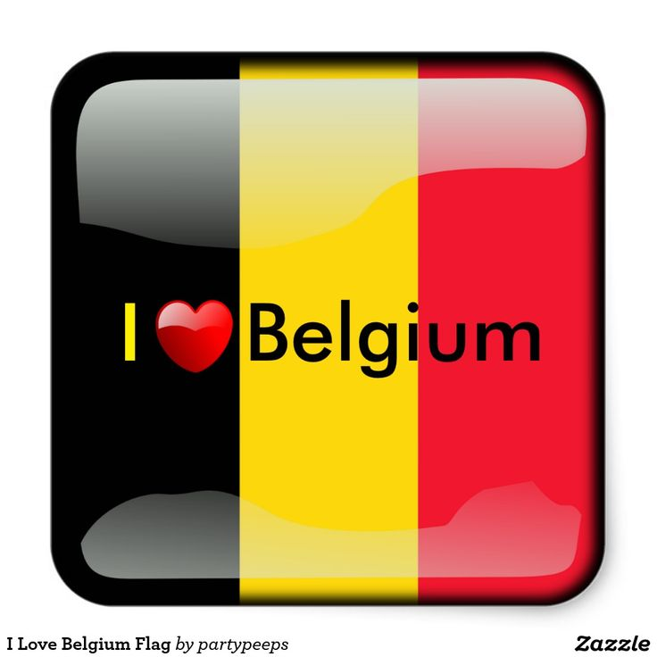 I love belgium flag square sticker