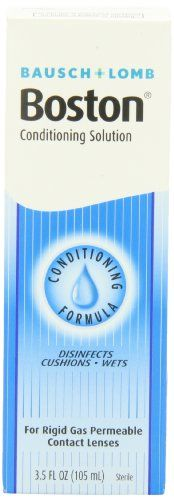 #new Bausch and Lomb #Boston conditioning solution. Improved formula. Conditioning formula. Disinfects. Cushions-wets. For rigid gas permeable contact lenses and...