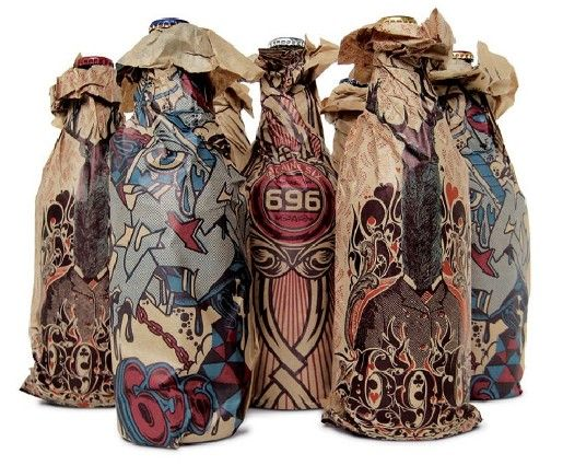 Toohey's Extra Dry 696 paper bag designs