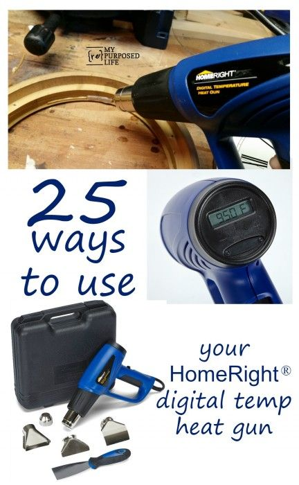 Heat Gun Ideas including DIY uses and Heat Gun Craft Ideas as well as how to remove paint, stain and veneer using a HomeRight Digital Temperature Heat Gun