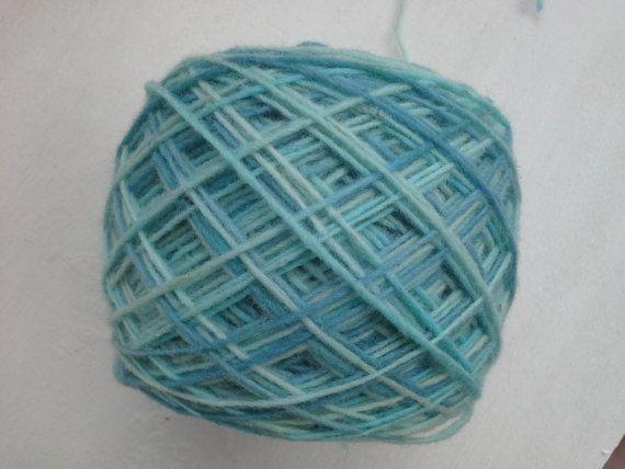hand dyed yarn light blue turquoise fingering yarn by KoloroStudio