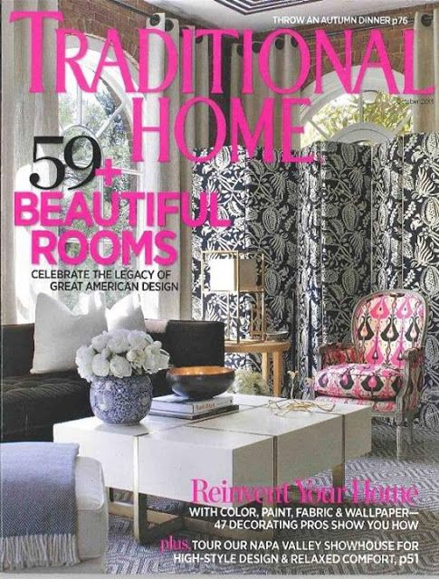 Traditional Home.com magazine October 2013 | ... Surprise!! Leslie Moore, L. Moore Designs, In Traditional Home Magazine