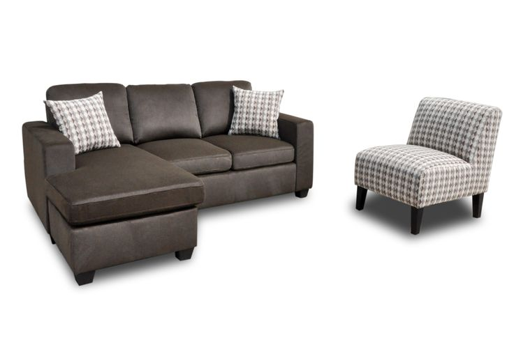 Description: Condo size reversible Fabric Sectional, Also available in sofa, loveseat and chair Dimension: 80″L x 35″ D, [58.5″ chaises] x 36.5″H Colors Available: Chocolat brown, Dark Grey, light grey, Tan color