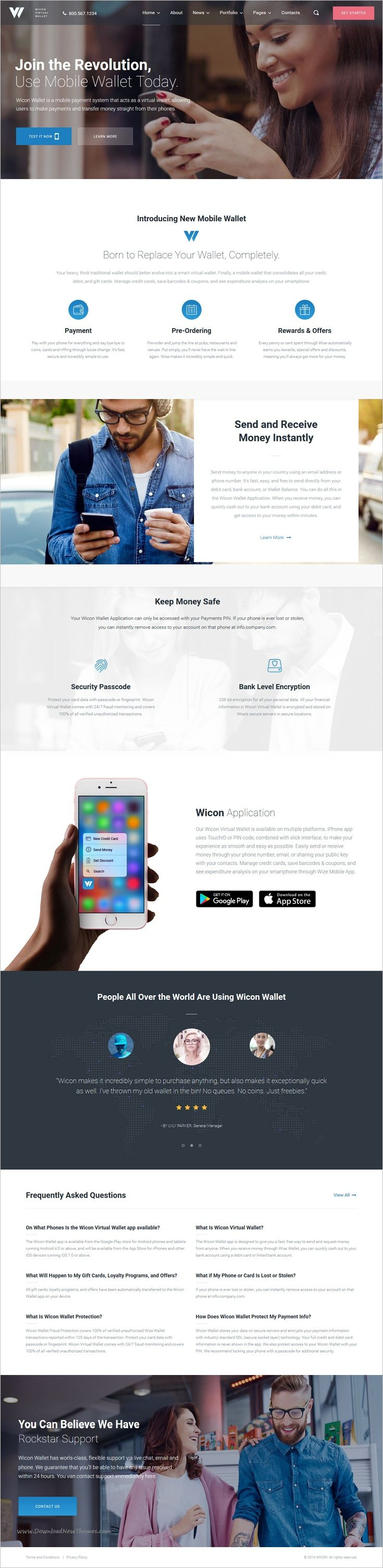 Wicon is a stylish and elegant #WordPress theme designed to help you #showcase your online #wallet application websites download now➩ https://themeforest.net/item/mobile-wallet-application-wordpress-theme-wicon/19264931?ref=Datasata