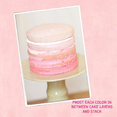 Obee Designs: HOW TO MAKE A RUFFLED OMBRE CAKE