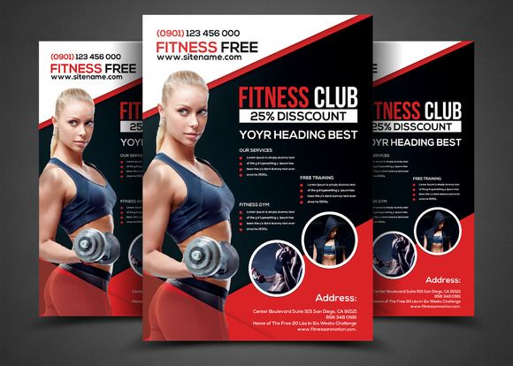 8 best Posters and Flyers images on Pinterest Fitness flyer - Gym Brochure Templates