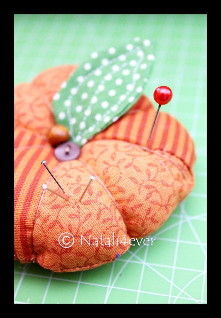 Pumpkin pincushion