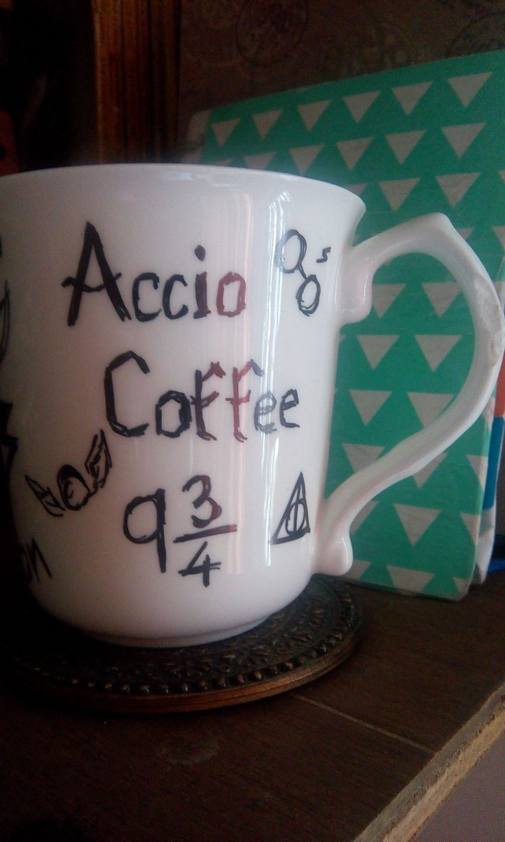 A plain mug revamped with a permanent marker...