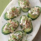 Crab and Cucumber Canaps